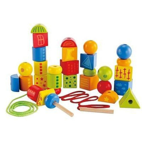 Hape String-Along Shapes-Threading set-The Creative Toy Shop