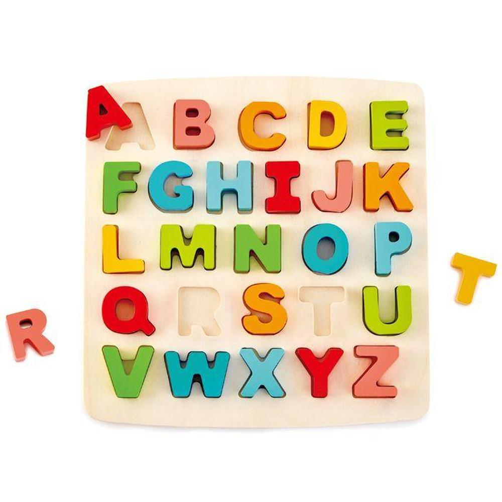 Hape Uppercase Alphabet Puzzle-Wooden Puzzles-The Creative Toy Shop
