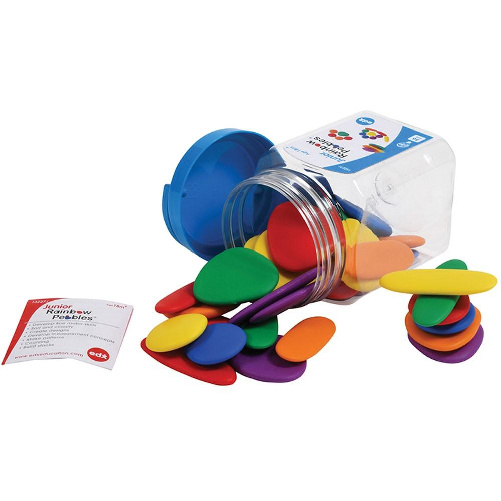Junior Rainbow Pebbles Jar of 36 - Edx Education - The Creative Toy Shop