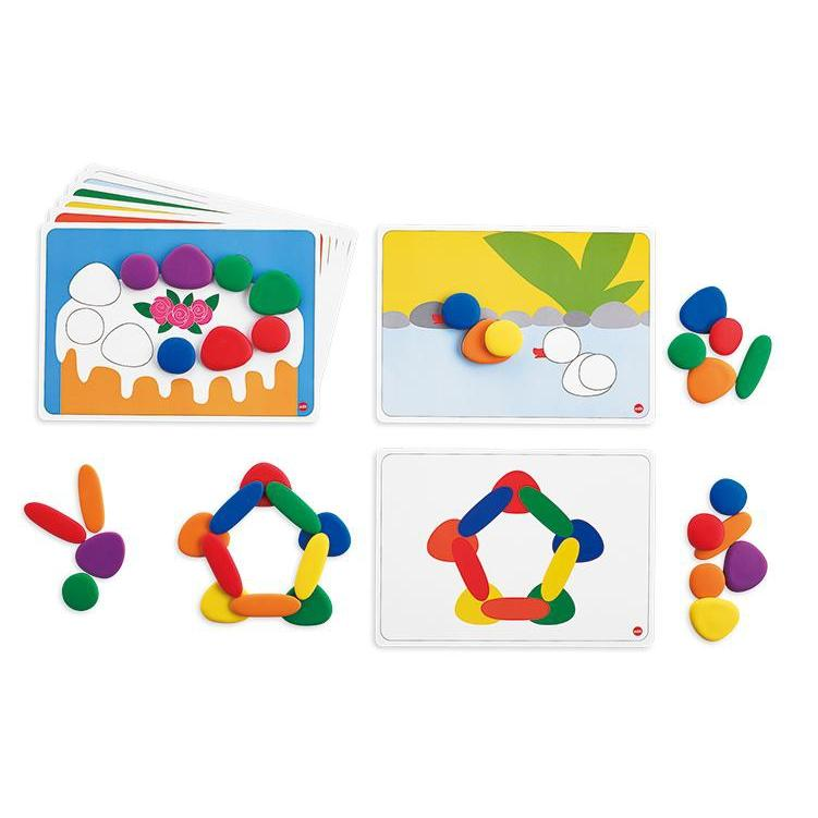 Junior Rainbow Pebbles with Activity Cards set of 36 - Edx Education - The Creative Toy Shop