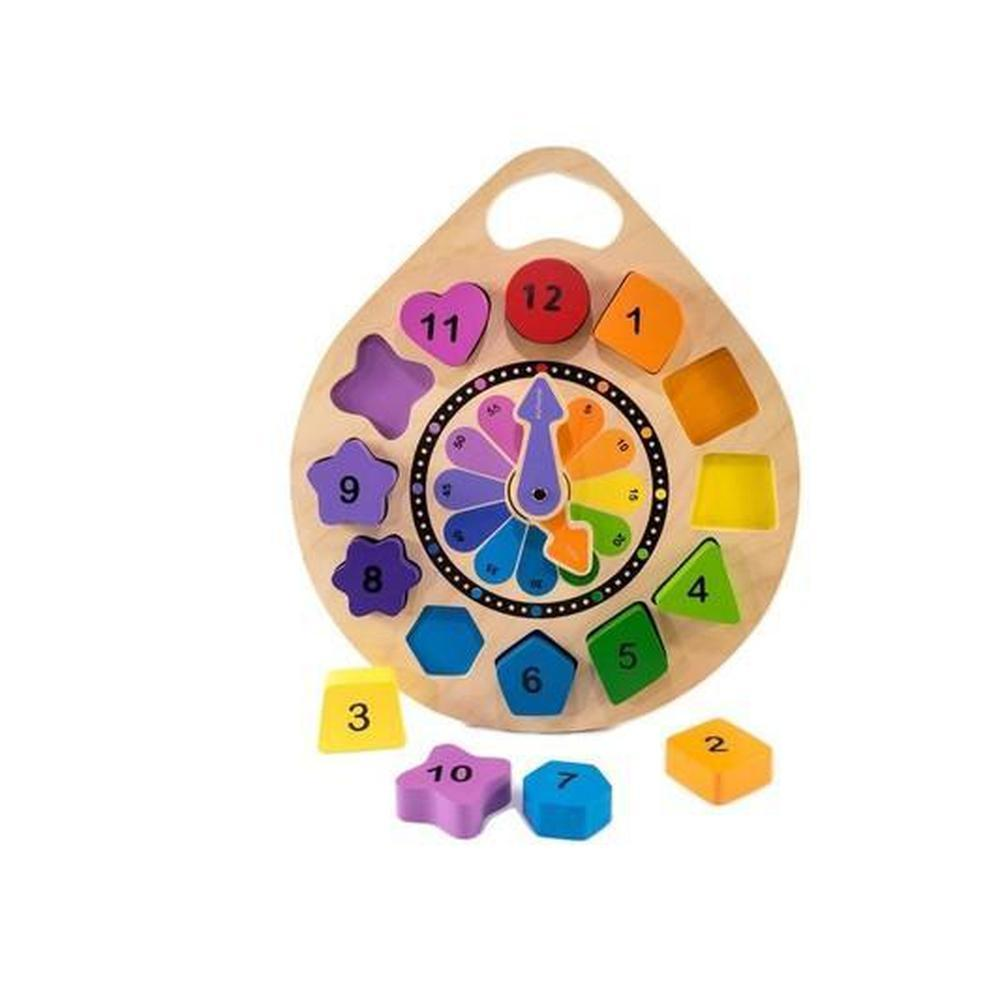 Kiddie Connect Clock Puzzle-Wooden puzzles-The Creative Toy Shop