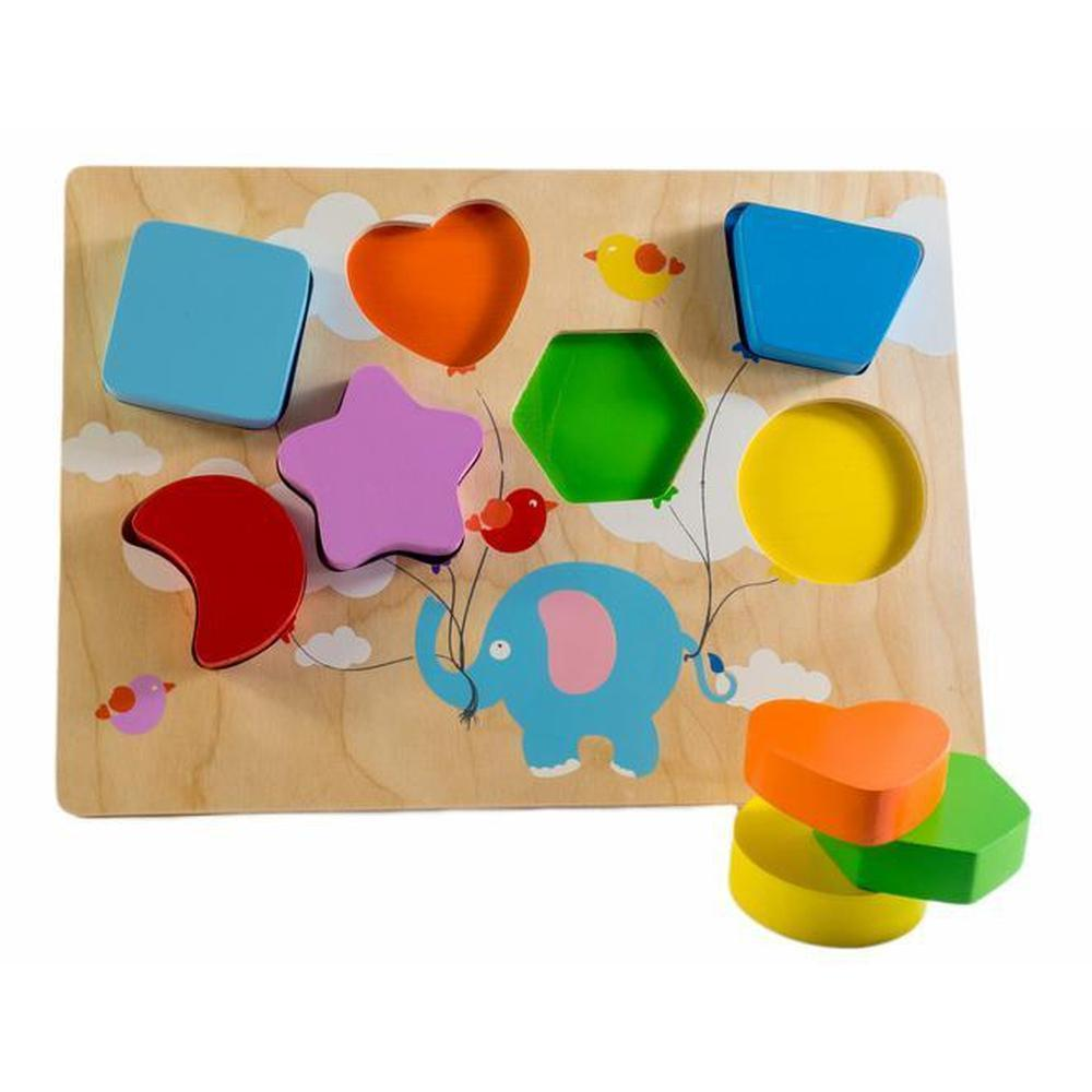 Kiddie Connect Flying Balloons Chunky Shape Puzzle-Wooden puzzles-The Creative Toy Shop