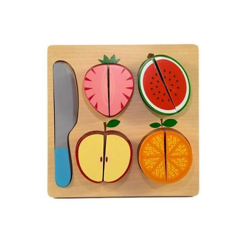 Kiddie Connect Fruit Slicing Puzzle-Wooden puzzles-The Creative Toy Shop