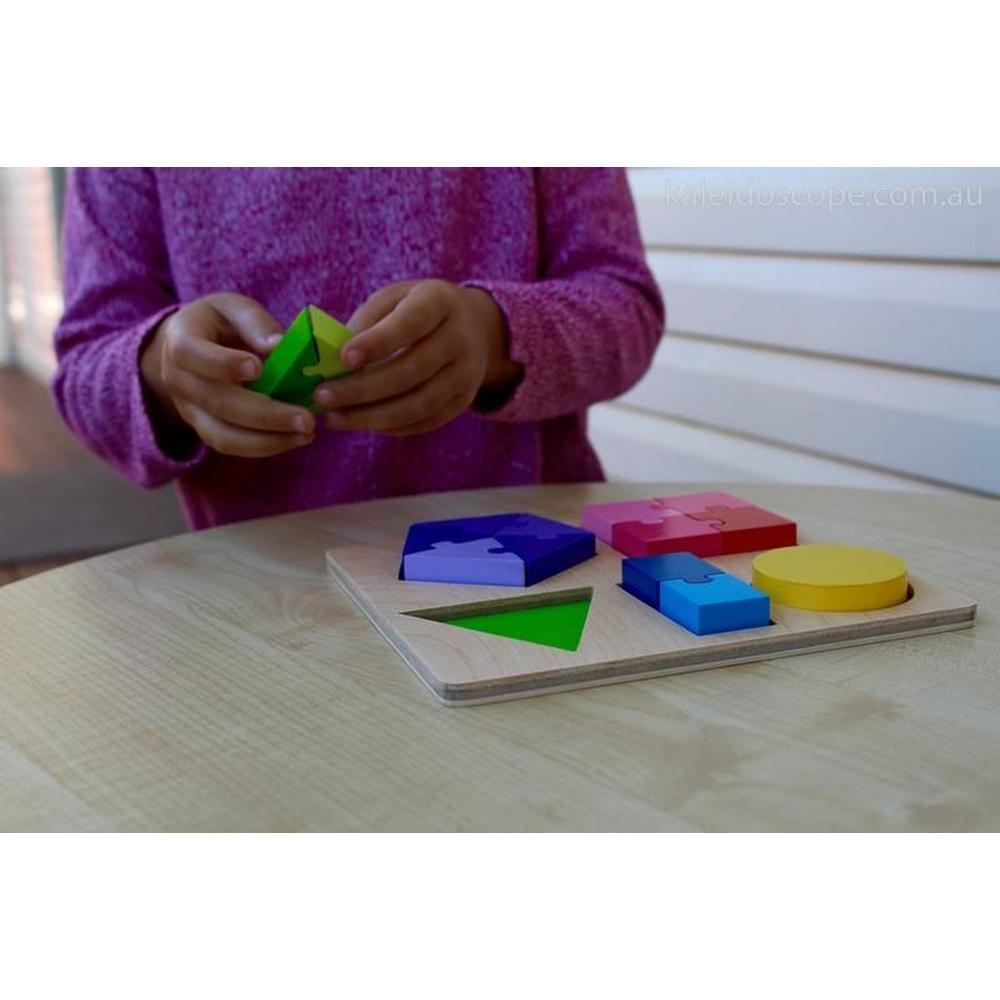 Kiddie Connect Shape and Fraction Puzzle-The Creative Toy Shop