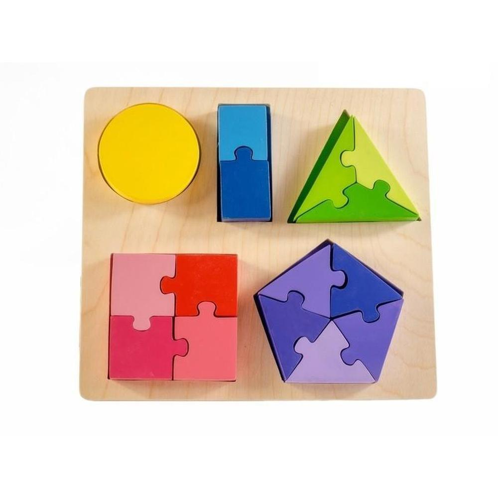 Kiddie Connect Shape and Fraction Puzzle-Wooden puzzles-The Creative Toy Shop