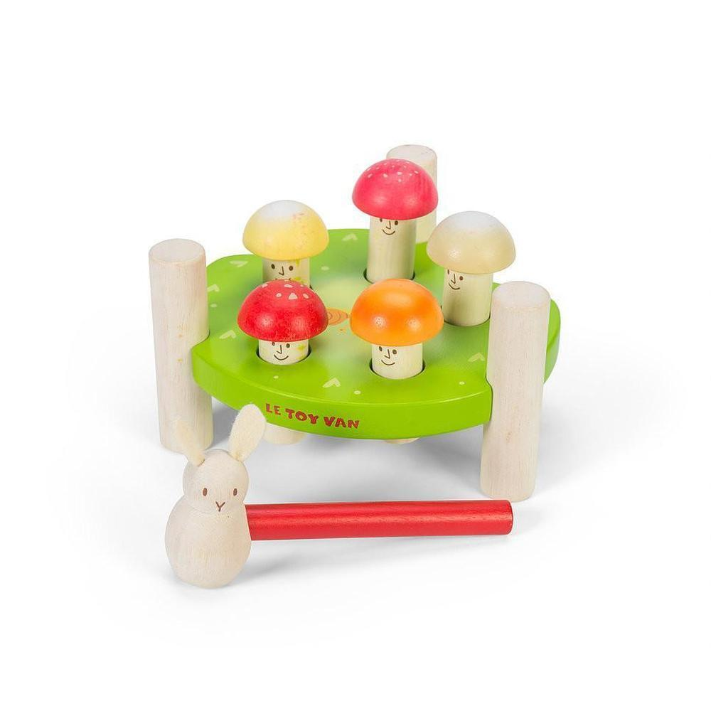 Le Toy Van Petilou Hammering Mr Mushroom-Wooden games-The Creative Toy Shop