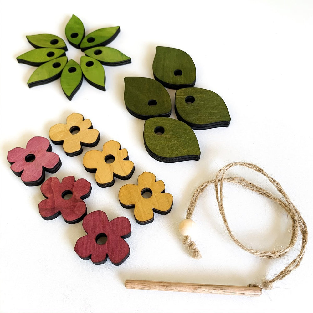 Let Them Play Leaves and Flowers Threading Set-The Creative Toy Shop