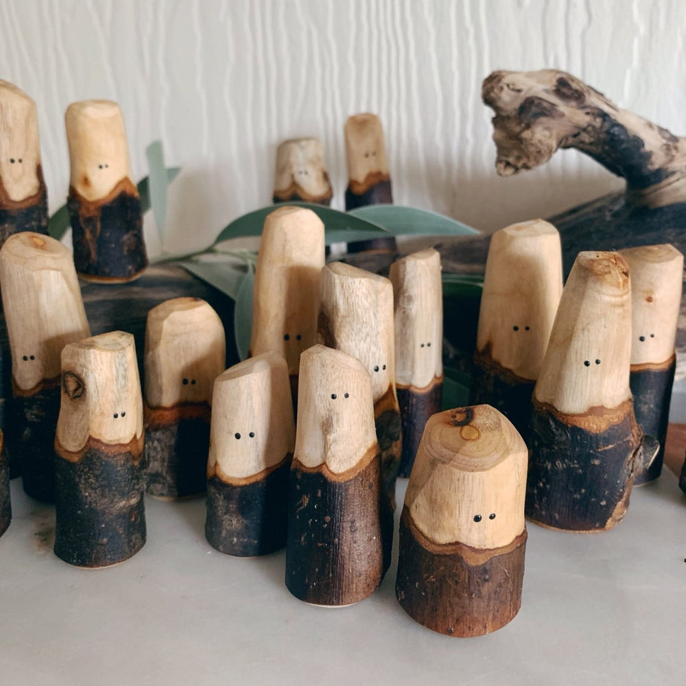 Let Them Play Tree People - Natural Family of 5 - Let Them Play Toys - The Creative Toy Shop