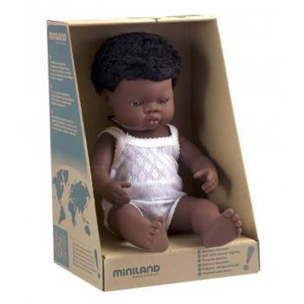 Miniland African Boy Doll 38cm - Miniland - The Creative Toy Shop