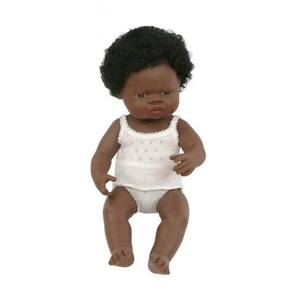 Miniland African Girl Doll 38cm - Miniland - The Creative Toy Shop