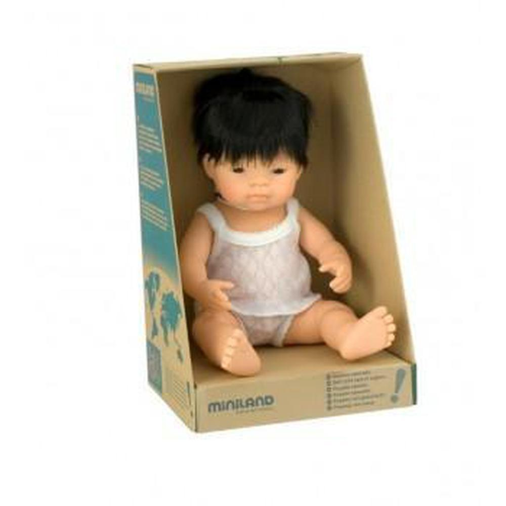 Miniland Asian Boy Doll 38cm - Miniland - The Creative Toy Shop