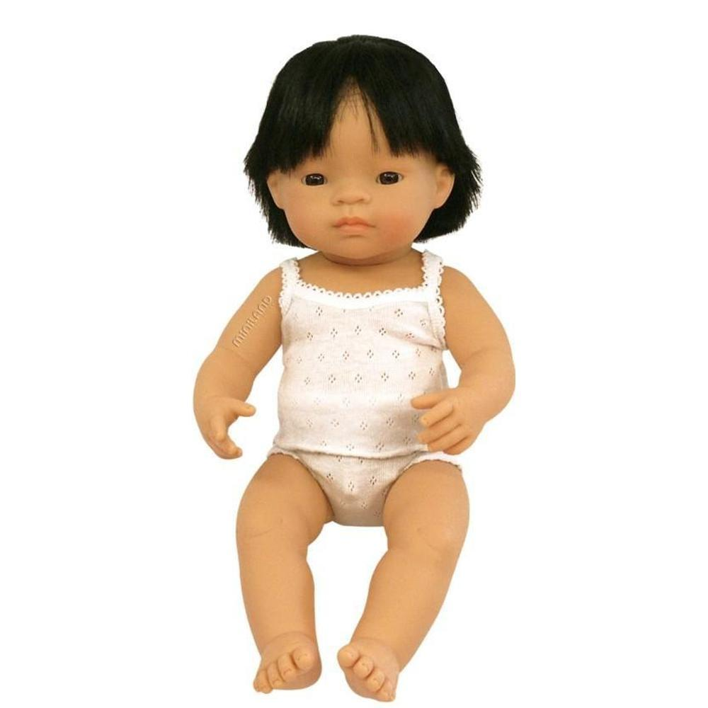 Miniland Asian Boy Doll 38cm-Doll-The Creative Toy Shop