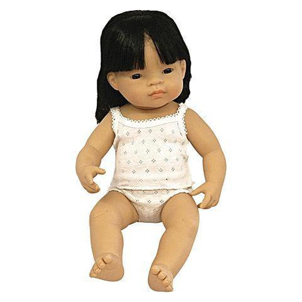 Miniland Asian Girl Doll 38cm - Miniland - The Creative Toy Shop