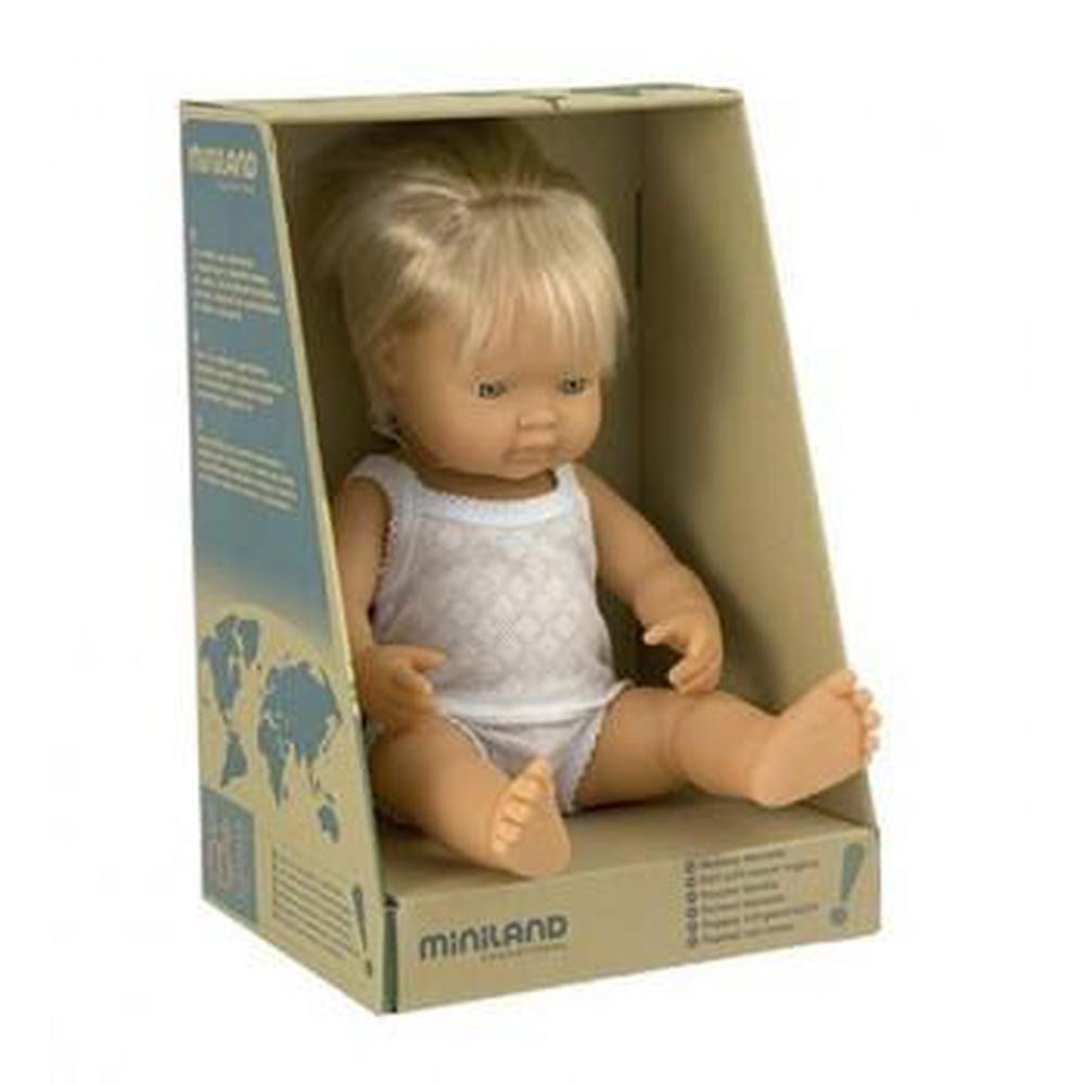 Miniland Caucasian Boy Doll 38cm-The Creative Toy Shop