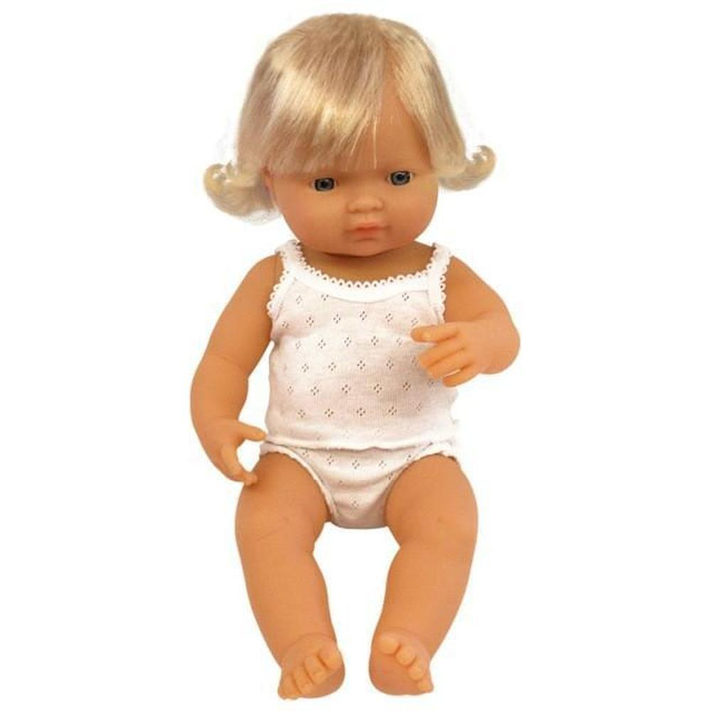 Miniland Caucasian Girl Doll 38cm-The Creative Toy Shop