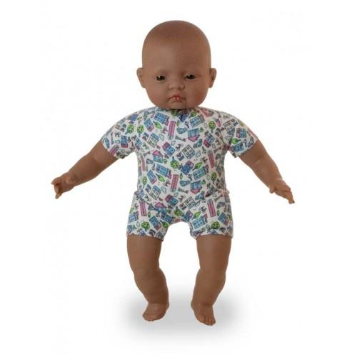 Miniland Doll - Soft Bodied Latin American Baby 40 cm