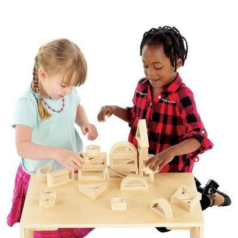 Mirror Blocks Set of 24-Wooden Blocks-The Creative Toy Shop