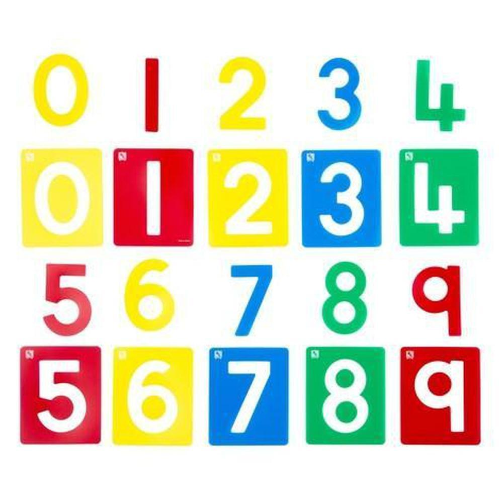 Number Stencils set of 10-Stencils-The Creative Toy Shop