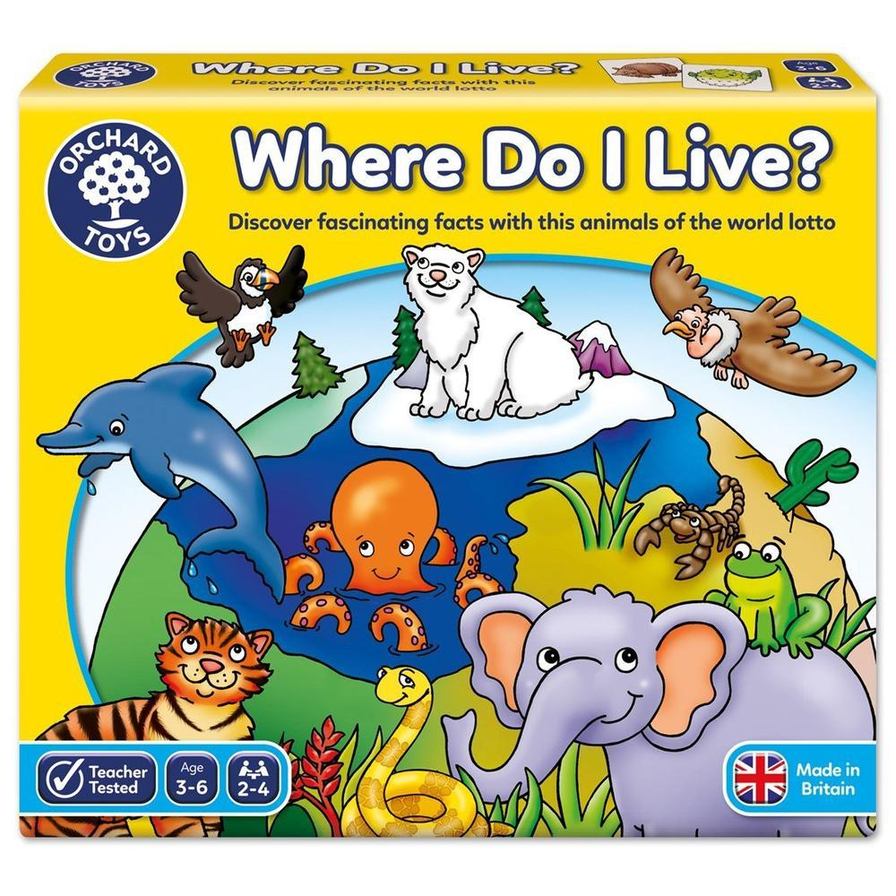 Orchard Toys - Where Do I Live-Games-The Creative Toy Shop