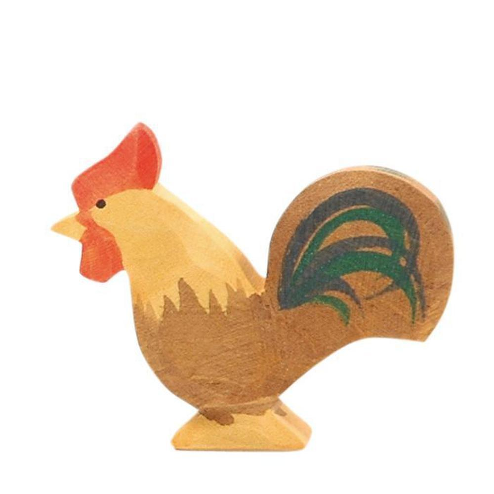 Ostheimer Chickens - Rooster Brown-Wooden animals-The Creative Toy Shop