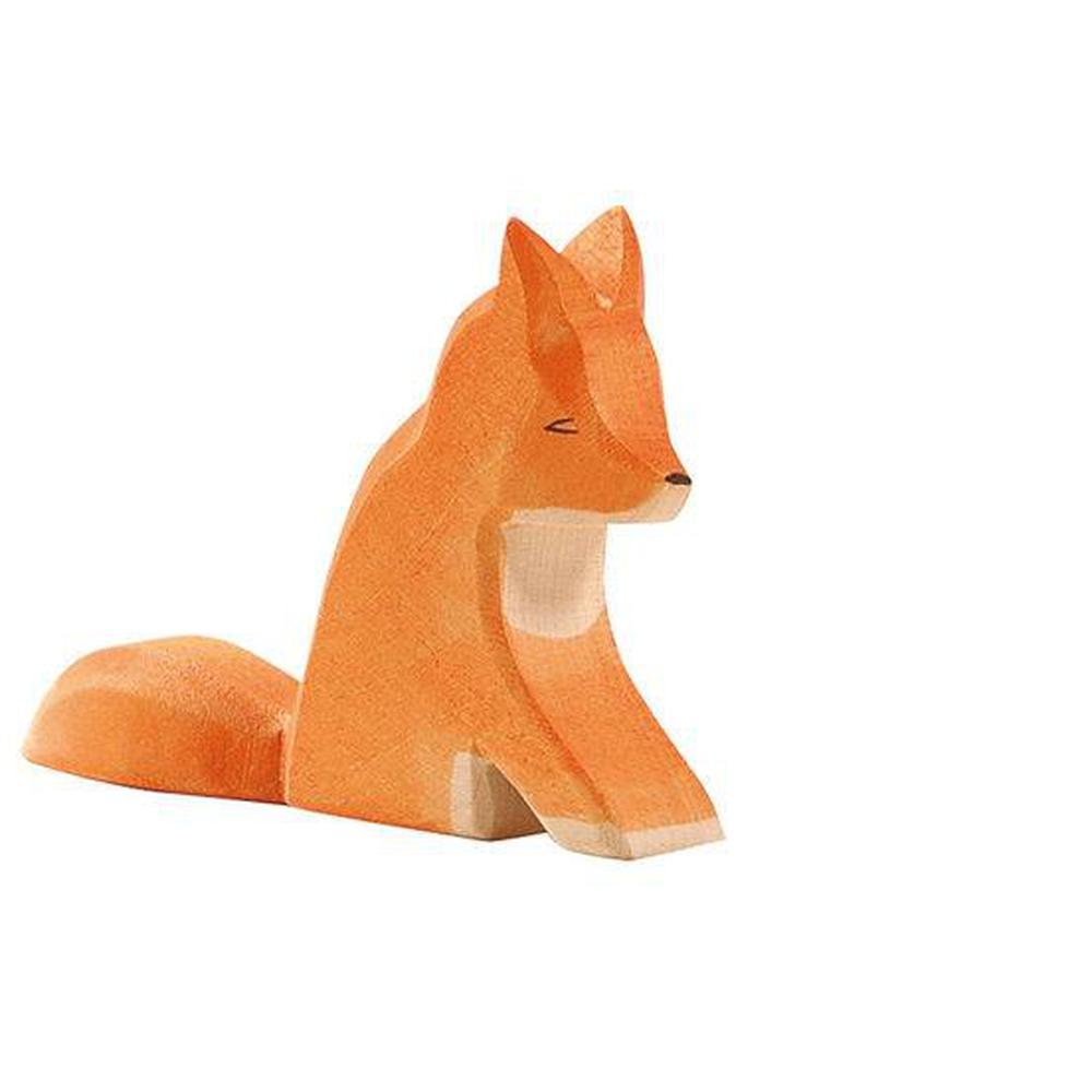 Ostheimer Foxes - Fox Sitting-Wooden animals-The Creative Toy Shop