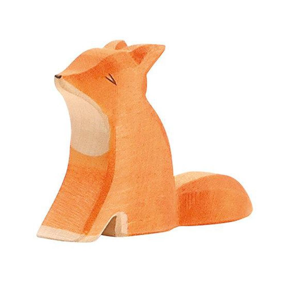 Ostheimer Foxes - Fox Small Sitting-Wooden animals-The Creative Toy Shop