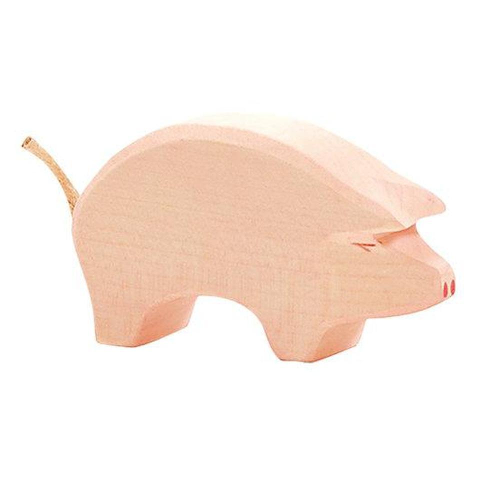 Ostheimer Pigs - Pink Head Low-Wooden animals-The Creative Toy Shop