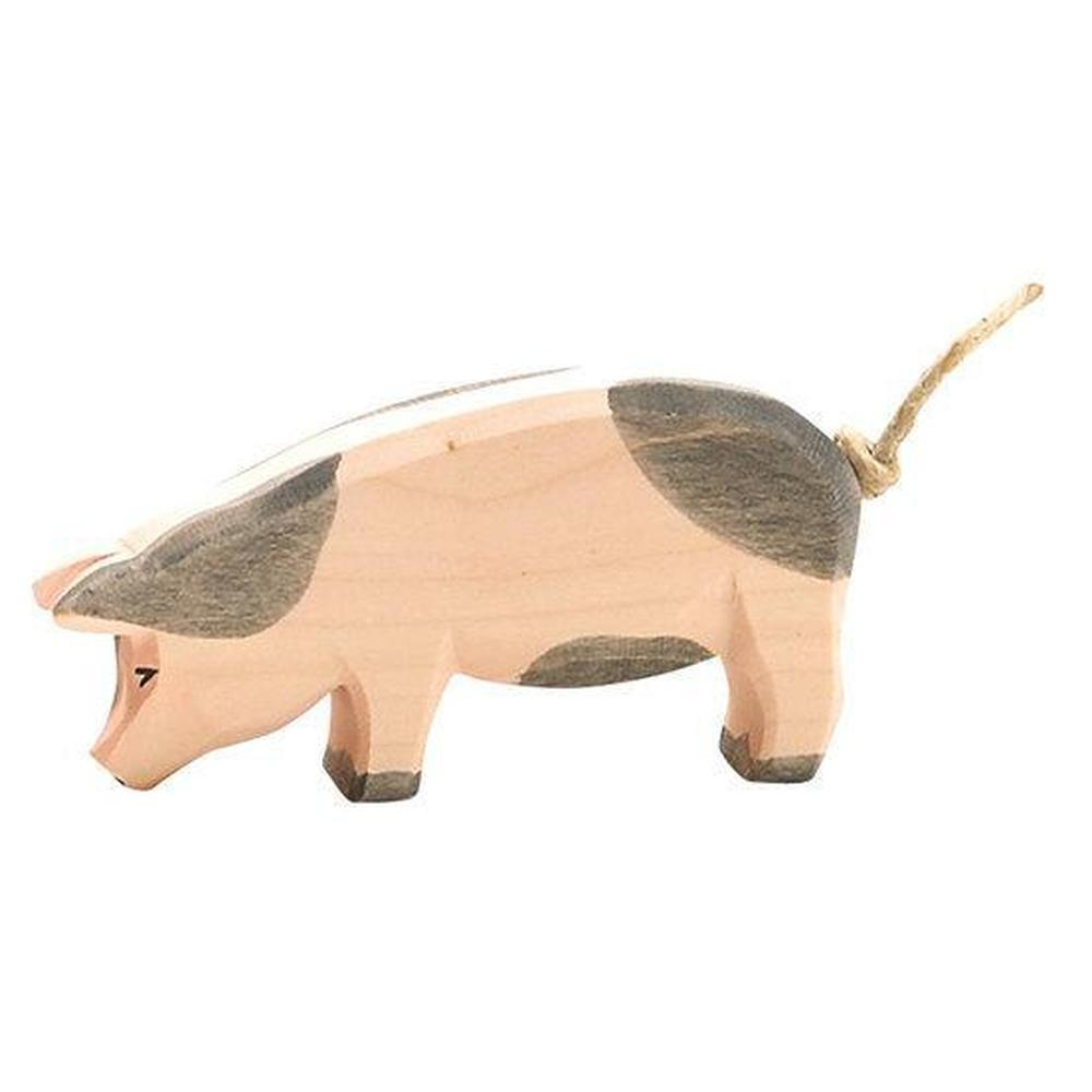 Ostheimer Pigs - Spotted Head Low-Wooden animals-The Creative Toy Shop