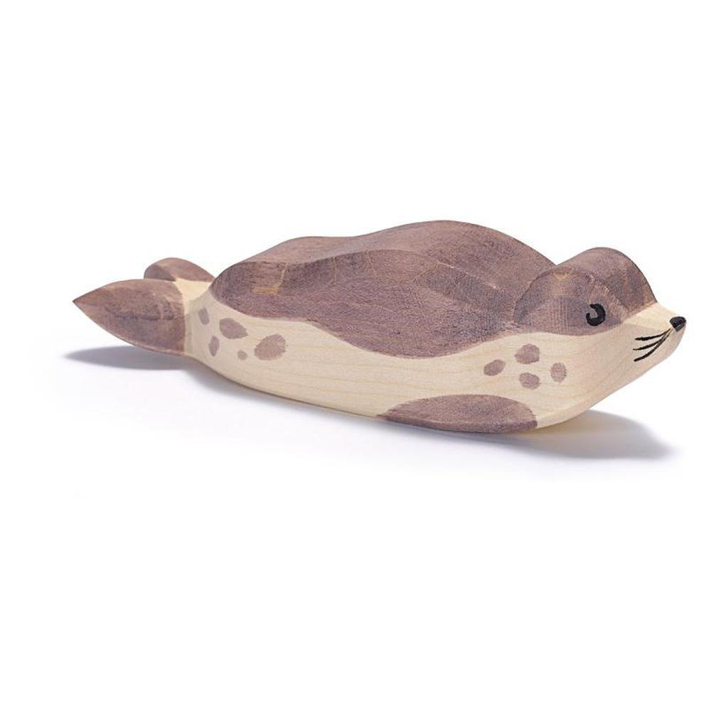 Ostheimer Sea Lion - Resting-Wooden animals-The Creative Toy Shop