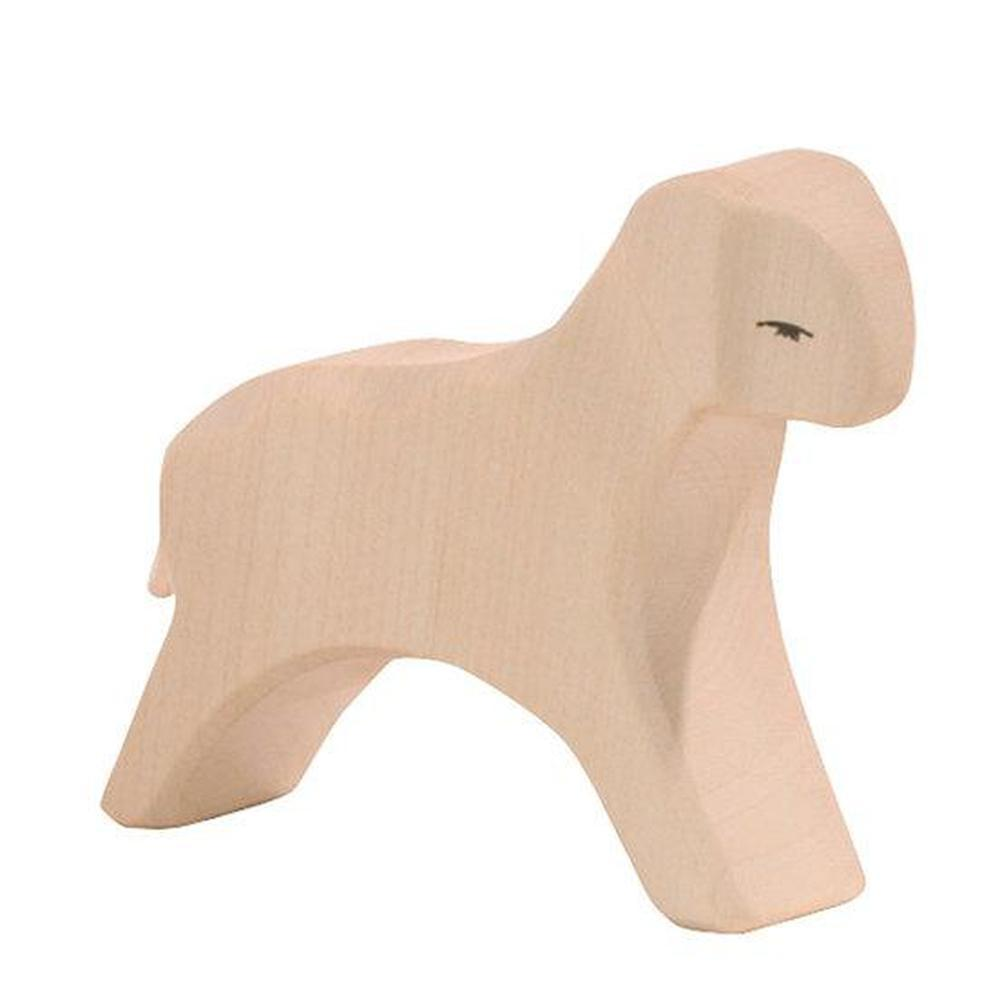 Ostheimer Sheep - White Lamb Running-Wooden animals-The Creative Toy Shop