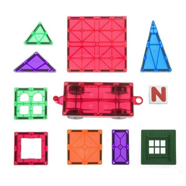 Playmags 100 Piece Magnetic Tiles Set-The Creative Toy Shop