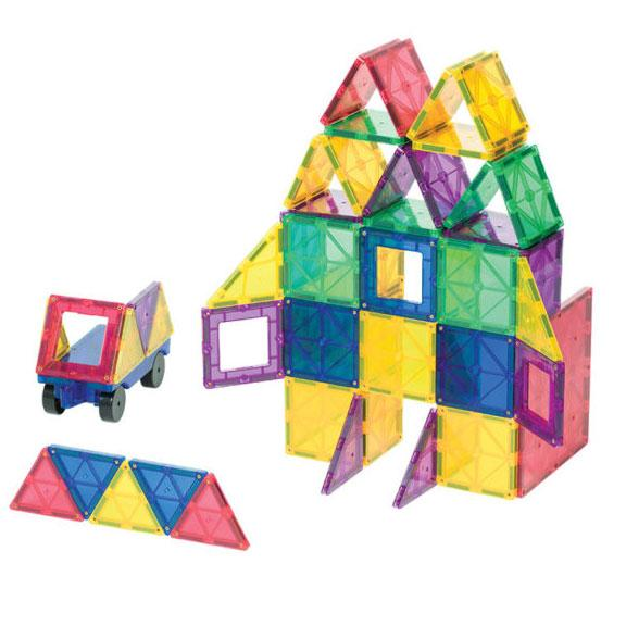 Playmags 60 Piece Magnetic Tiles Set-The Creative Toy Shop