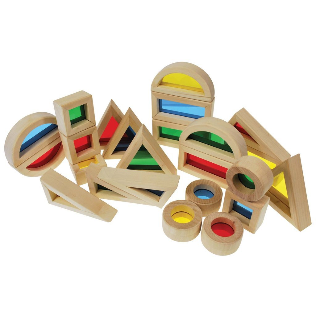 Rainbow Blocks - Set of 24-The Creative Toy Shop
