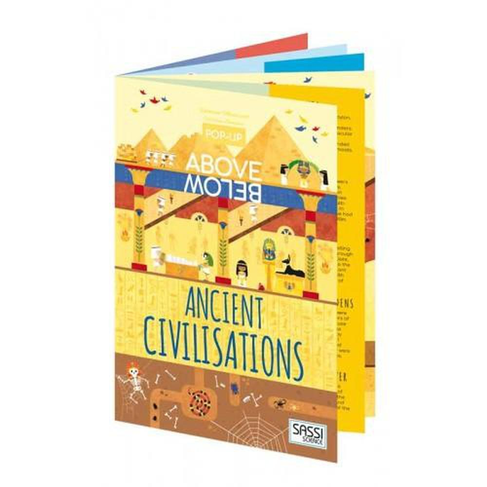 Sassi Above & Below Ancient Civilisations Book-Book-The Creative Toy Shop