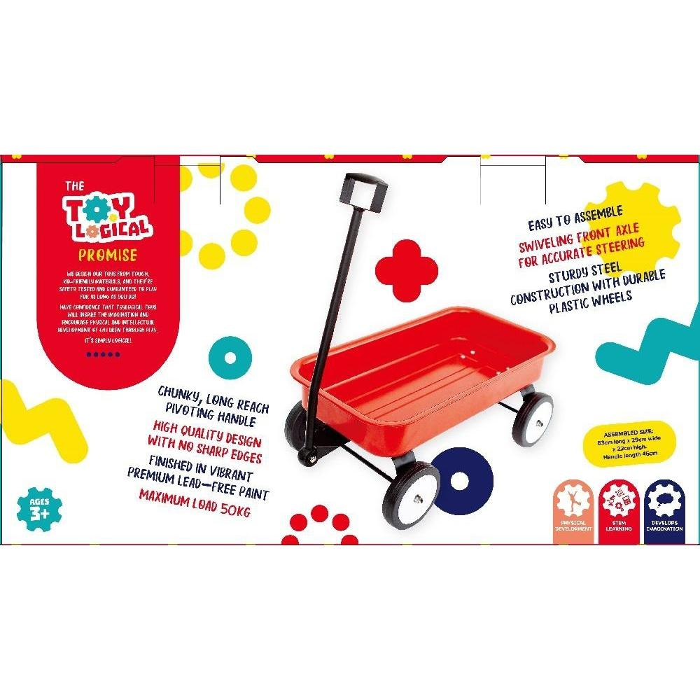 Stow and Go Red Wagon - Toy Logical - The Creative Toy Shop