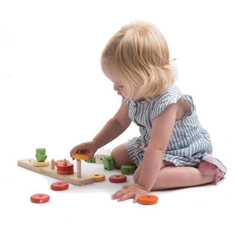 Tender Leaf Counting Carrots Wooden Stacker - Tender Leaf Toys - The Creative Toy Shop