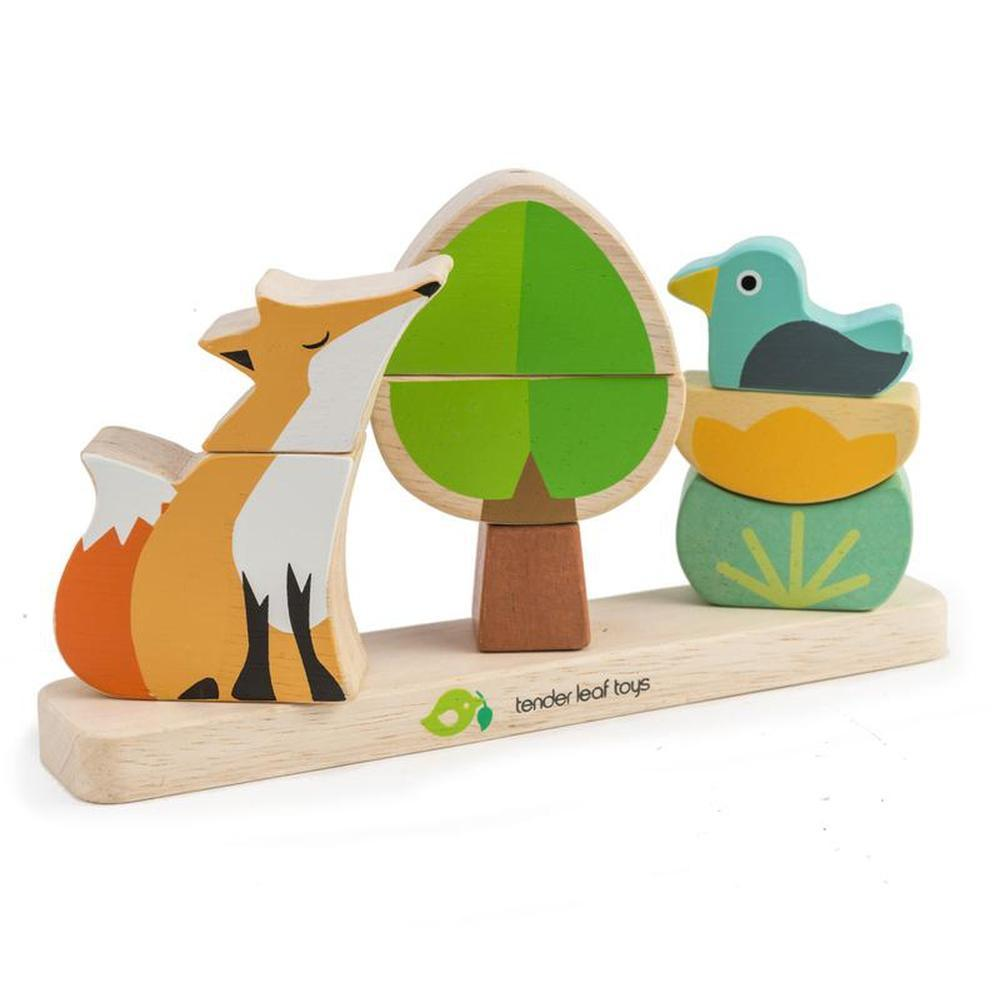 Tender Leaf Magnetic Foxy Stacker-The Creative Toy Shop