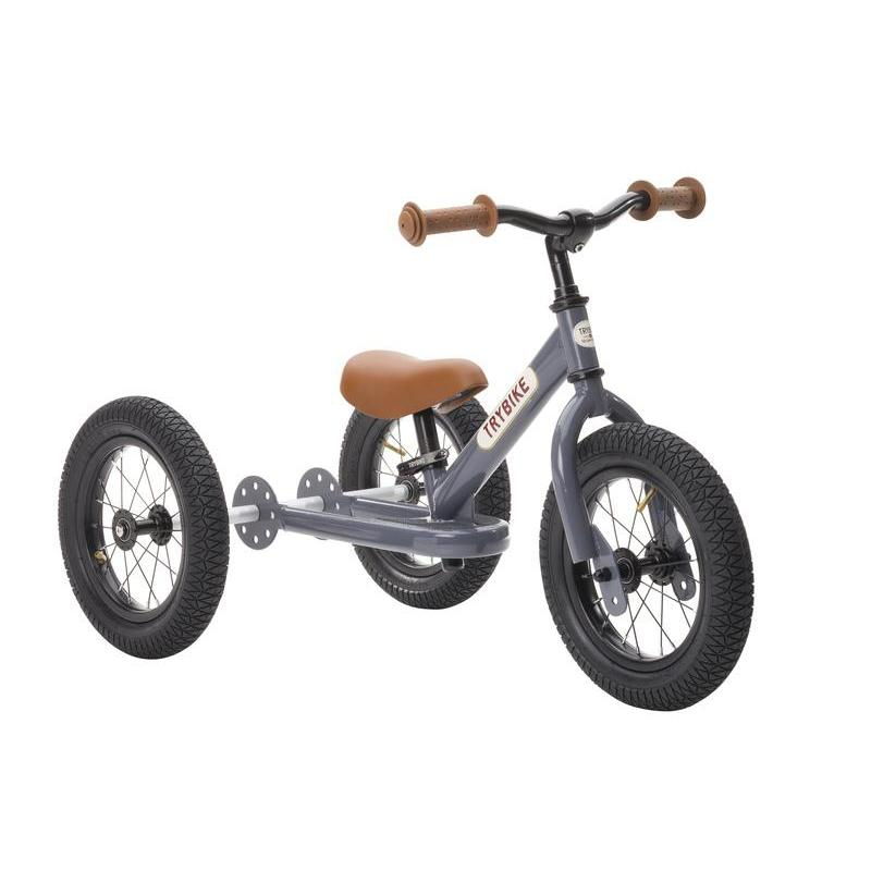 Trybike Grey Trybike, Brown Seat and Grips - Tribike - The Creative Toy Shop