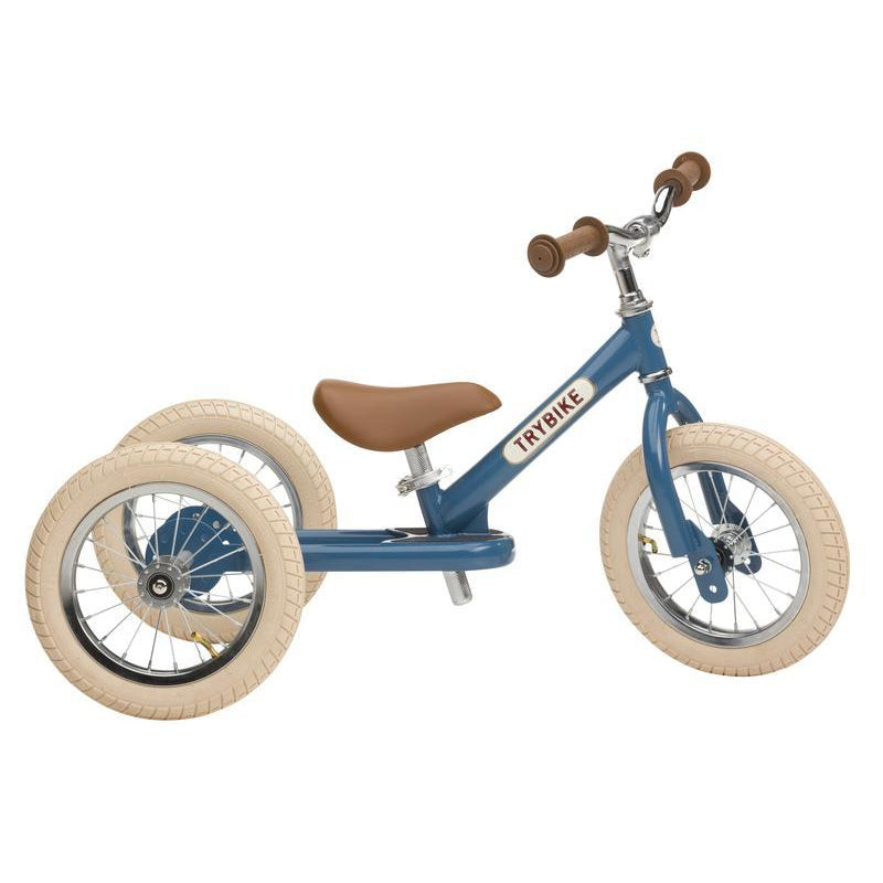 Trybike Steel Blue Vintage Chrome Parts & Creme Tyres - Tribike - The Creative Toy Shop