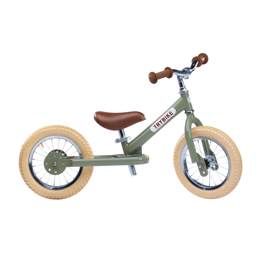 Trybike Steel Green Vintage Chrome Parts & Creme Tyres - Tribike - The Creative Toy Shop