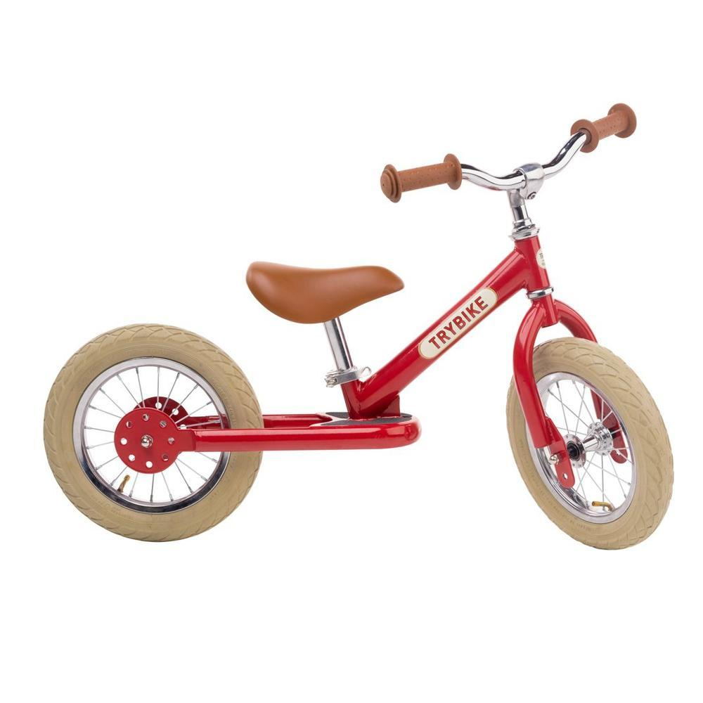 Trybike Steel Red Vintage Chrome Parts & Creme Tyres-The Creative Toy Shop