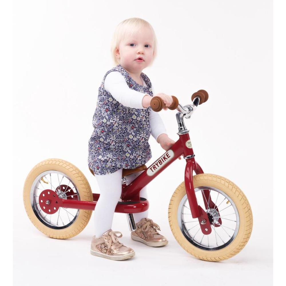 Trybike Steel Red Vintage Chrome Parts & Creme Tyres - Tribike - The Creative Toy Shop