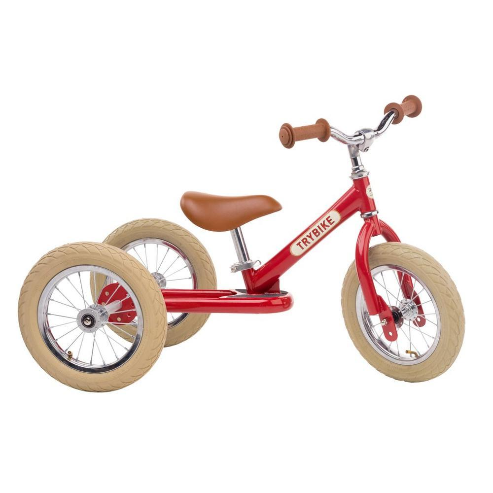 Trybike Steel Red Vintage Chrome Parts & Creme Tyres-Bikes-The Creative Toy Shop