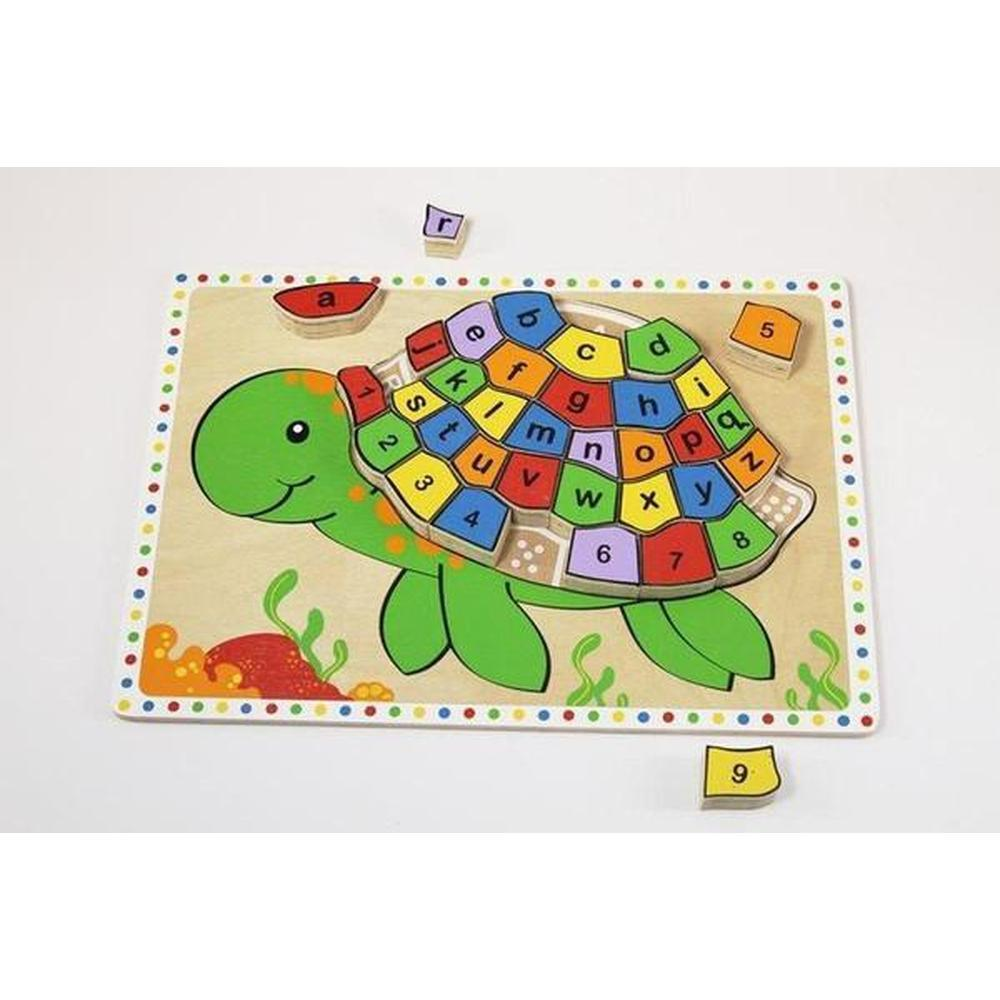 Turtle Alphabet and Number Puzzle - Kiddie Connect - The Creative Toy Shop