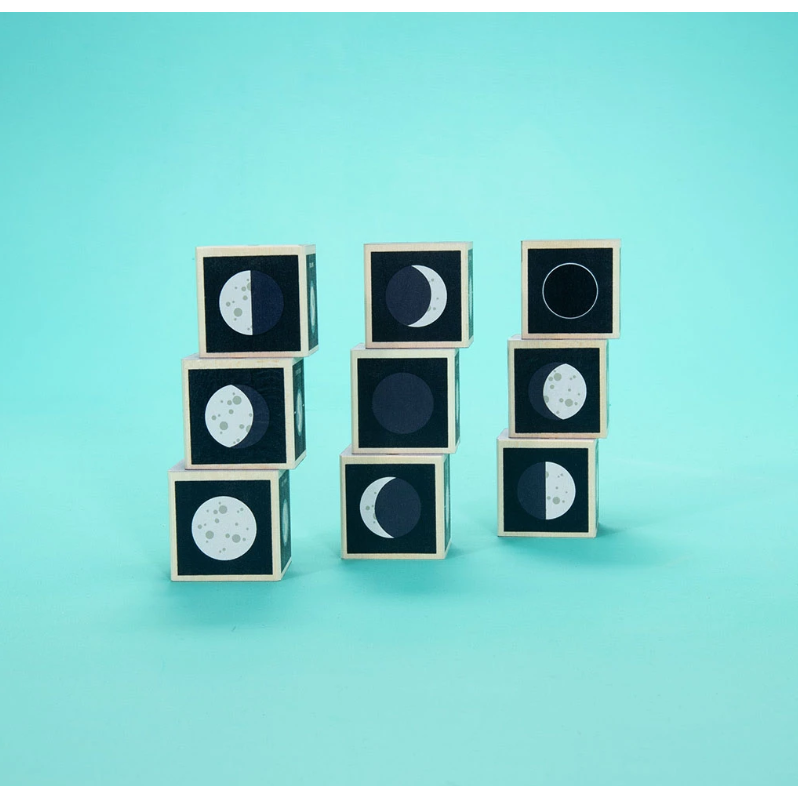 Uncle Goose Wooden Blocks - Moon Phases - Uncle Goose - The Creative Toy Shop