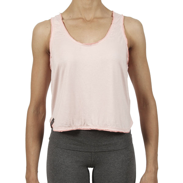 Ami Crop Tank - Pastel / Peach Trim