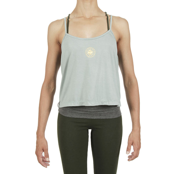 Pearl Cami - Sage / Gold Flower