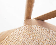 Load image into Gallery viewer, Provincial Cross Back Chair - Stackable | Natural Oak - Magnolia Lane