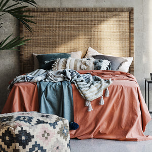 Palm Springs Rattan Bed Head | King - Magnolia Lane