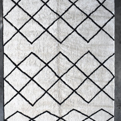 Cotton Berber Rug | Black - Magnolia Lane